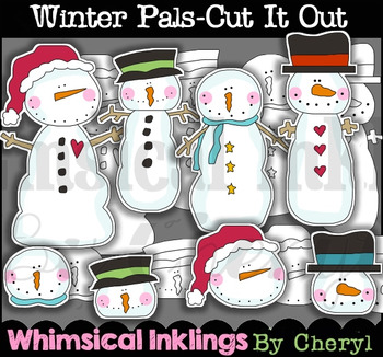 Winter Pals Cut It Out Clipart Collection
