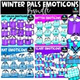 Winter Pals Emoticons Clip Art Bundle {Educlips Clipart}
