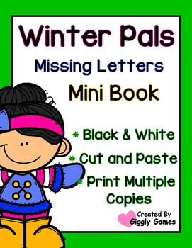Winter Pals Missing Letters Mini Book