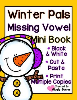 Winter Pals Vowel Sounds Mini Book