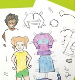 Winter Paper Dolls DUO Boy and Girl - Winter Coloring Page