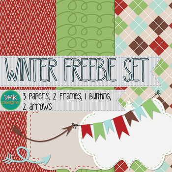 Winter Paper and Frame Freebie Set