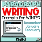 Winter Paragraph Writing Prompts (Distance Learning-Google Slides™)