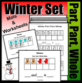 Winter Part, Part, Whole With Ten Frames (Colored Mats & Worksheets)