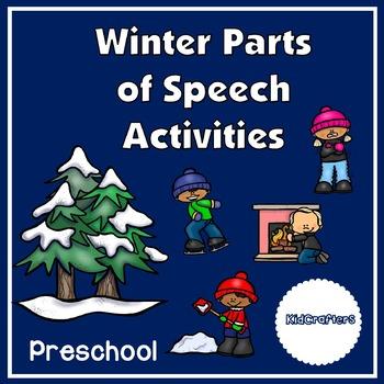 Winter Parts of Speech Activities