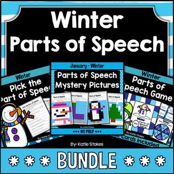 Winter Parts of Speech BUNDLE