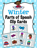 Winter Parts of Speech Clip Cards