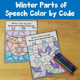 Winter Parts of Speech Color by Code