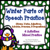 Winter Parts of Speech Practice {6 Activities}