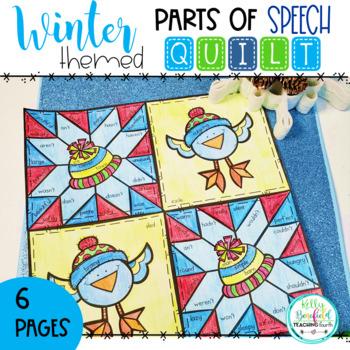 Winter Parts of Speech Quilt
