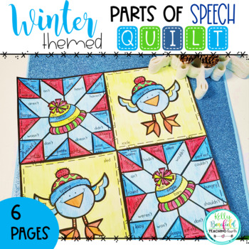Winter Parts of Speech Quilt