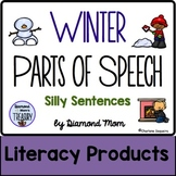 Winter Parts of Speech Silly Sentences