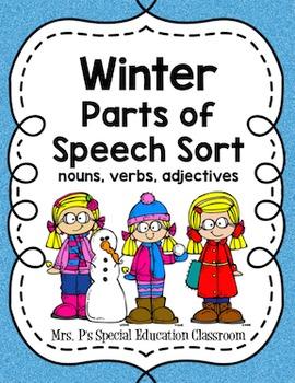 Winter Parts of Speech Sort