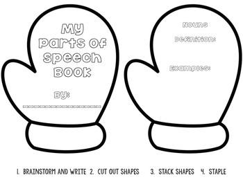 Winter Parts of Speech Templates {Mittens, Snowmen, and Hats}