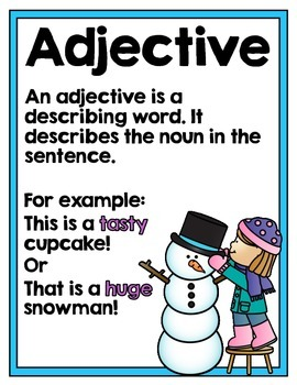 Winter Parts of Speech Word Sort and Literacy/Work Station
