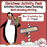 Christmas Activity Pack using Reading-Writing-Math