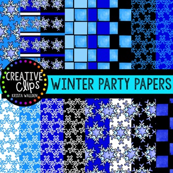 Winter Party Papers {Creative Clips Digital Clipart}