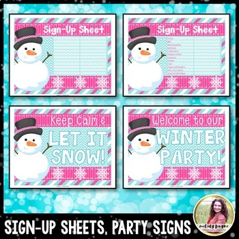 Winter Party Printables {Banners, Toppers, Wrappers, Invitations, and More!}