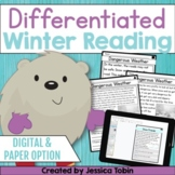 Winter Reading Comprehension Passages and Questions with Google Slides Option