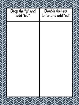 Winter Past Tense Verbs Pack (CVC Ending)