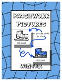 Winter - Patchwork Pictures - 13 Picture with Word Coloring Pages