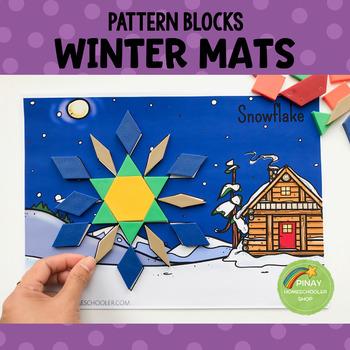 Winter Pattern Blocks Puzzle Mats