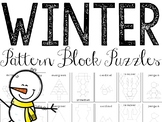 Winter Pattern Blocks Puzzles