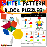 Winter Pattern Block Puzzles