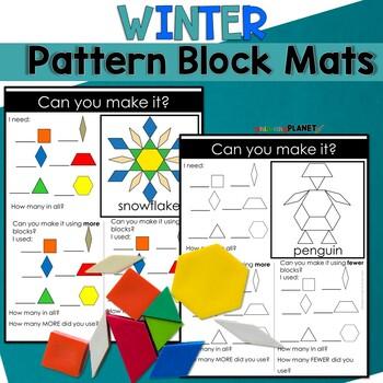 Winter Pattern Block Puzzles
