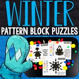 Winter Pattern Block Puzzles | Winter Pattern Block Challenge Cards