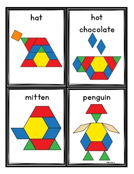 Winter Pattern Blocks Cards