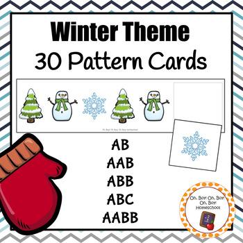 Patterns: Winter Pattern Cards