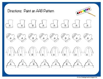 Winter Pattern Perfect - Self Guided Pattern Activities
