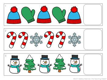 Winter Pattern Strips Center