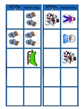 Winter Patterning Play Game - Season Fun ~ Early Reading Center ~ Preschool