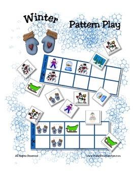 Winter Patterning Play Game - Season Fun ~ Early Reading C