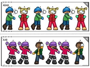 Winter Patterns Kindergarten and 1st Grade      ~Math Center~