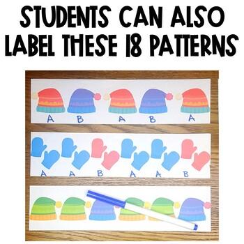 Winter Patterns Math Center Activity