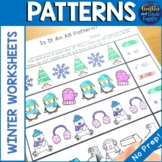 Winter Patterns Worksheets - AB, AAB, ABB, ABC Patterns