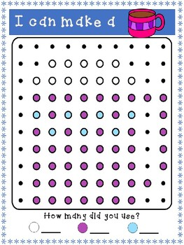 Winter Peg Board Pictures for Fine Motor