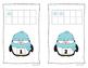 Winter Penguin and Polar Bear 10 Frame Counting Mats Bundle Set (1-20)