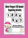 Winter Penguin 1 - 20 Number Sequencing Activities
