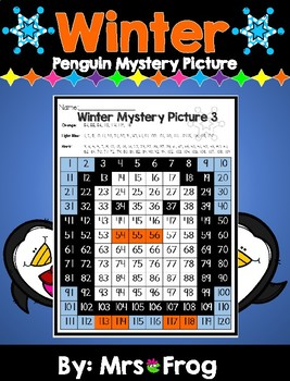 Winter Penguin 120 Chart Mystery Picture
