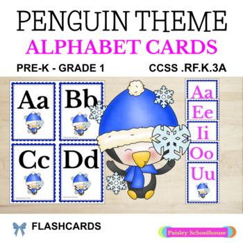 Winter: Penguin Alphabet Cards