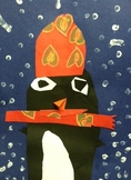 Winter Penguin Art Collage WITH VIDEO Instructions! Kinder