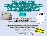 Winter Penguin Articulation and Language Packet No Prep! Print and Go!