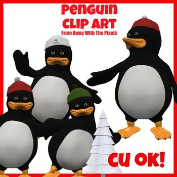 Winter Penguin Clip Art - Clipart for Teachers