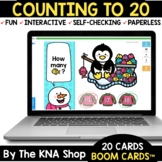 Winter Penguin Counting to 20 Boom Cards Distance Learning