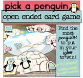 Winter Penguin Game for Speech Therapy or any Skill