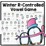 Winter Penguin Phonics Game for R Controlled Vowels ir ur er or and ar